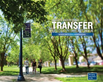 Transfer Toolkit - University of Northern Colorado