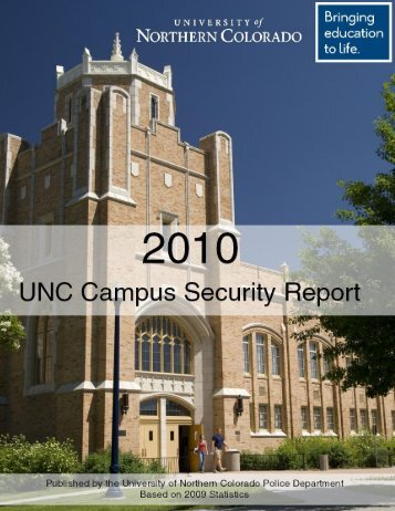 2010 Campus Security Report - University of Northern Colorado