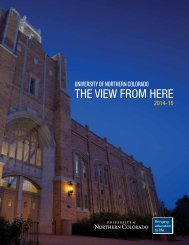 Viewbook - University of Northern Colorado