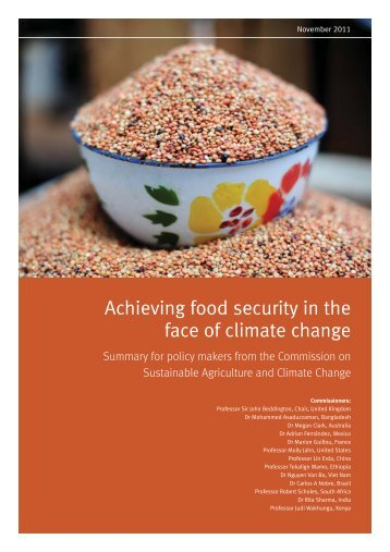 Nov 2011 Achieving food security in the face of climate change
