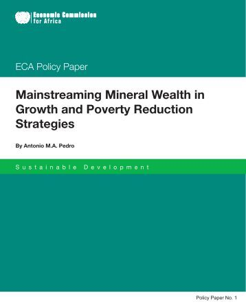 Mainstreaming Mineral Wealth in Growth and Poverty Reduction ...
