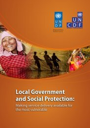 Local Government and Social Protection:Making service ... - UNCDF