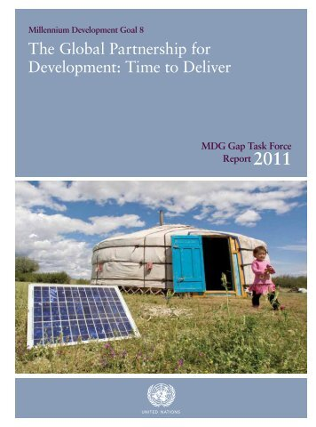 The Global Partnership for Development: Time to Deliver