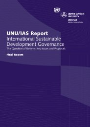 International Sustainable Development Governance - UNU-IAS ...