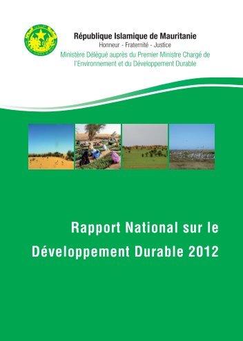 Rapport National sur le Développement Durable 2012 - Mauritanie