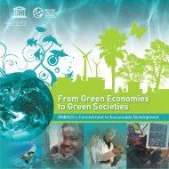 From green economies to green societies - Unesco
