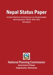National report - Nepal - United Nations Sustainable Development