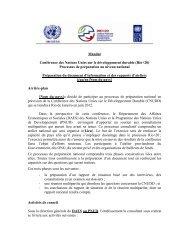 Mandat Conférence des Nations Unies sur le ... - Rio+20