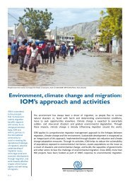 IOM's approach and activities - IOM Publications - International ...