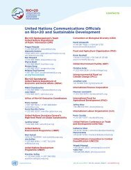 United Nations Communications Officials on Rio+20 and ...