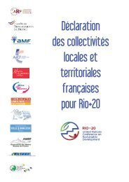 Déclaration des collectivités locales et territoriales françaises ... - AMF