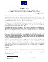 Statement on behalf of the European Union and its ... - Rio+20