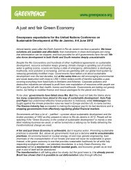 A just and fair Green Economy - Rio+20