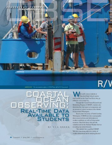 Coastal Ocean Observing: Real-time Data Available to ... - UNC-TV