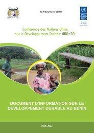 document d'information sur le developpement durable au benin