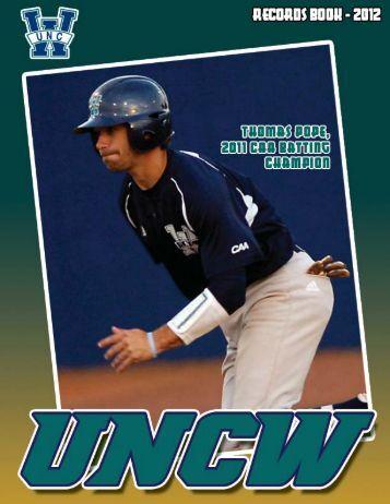record book cover 2012.psd - UNC Wilmington Athletics
