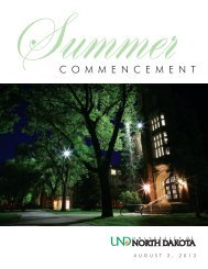 2013 Summer Commencement Program - University of North Dakota