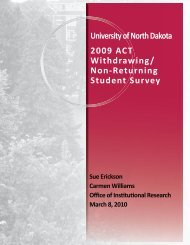 2009 ACT Withdrawing/ Non-Returning Student Survey