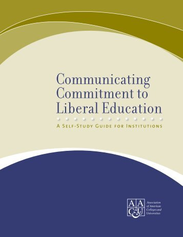 Communicating Commitment to Liberal Education