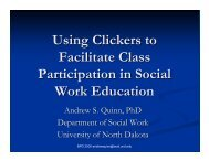 Using Clickers to Facilitate Class Participation in Social Work ...