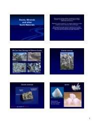 Rocks (such as basalt, granite or sandstone)