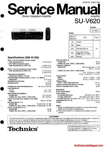 Technics SU-V620.pdf - Technics Catalogus