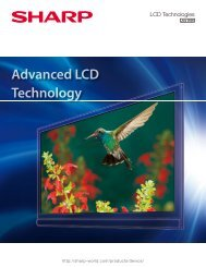 Advanced LCD Technology - Sharp Global