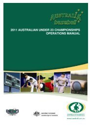 2011 australian under 23 championships operations manual