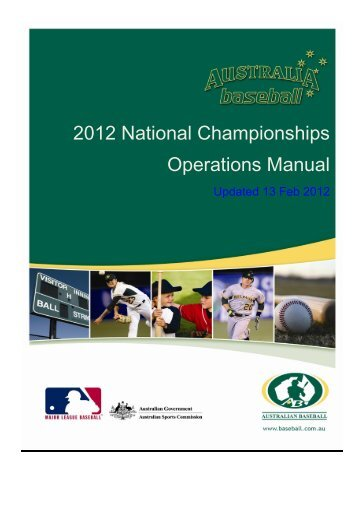 2012 Operations Manual - Under 23 Championships - Australian ...