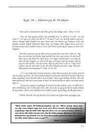 Kap. 26 – Slutten på de 70 ukene - Under My Tree