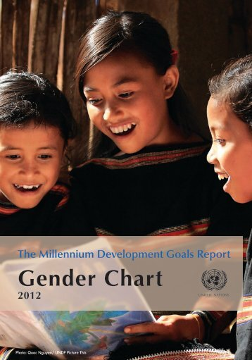 MDG Gender Chart - Millennium Development Goals Indicators