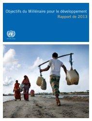 Objectifs du Millénaire pour le développement Rapport de 2013