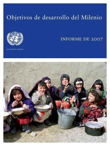 Objetivos de Desarrollo del Milenio, Informe 2007 - ONU