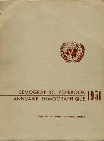 demographic yearbook annuaire demographique 1951