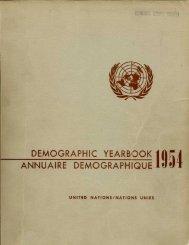 demographic yearbook annuaire demographique - Millennium ...