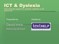 ICT & Dyslexia - Texthelp