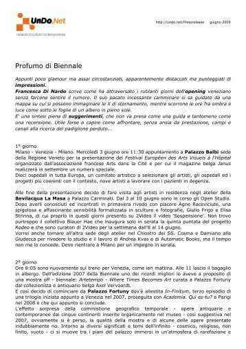 53 Esposizione internazionale d'Arte Biennale di Venezia - UnDo.Net