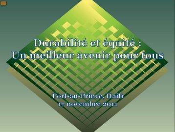 du Rapport sur le développement humain 2011