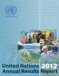 United Nations 2012 Annual Results Report