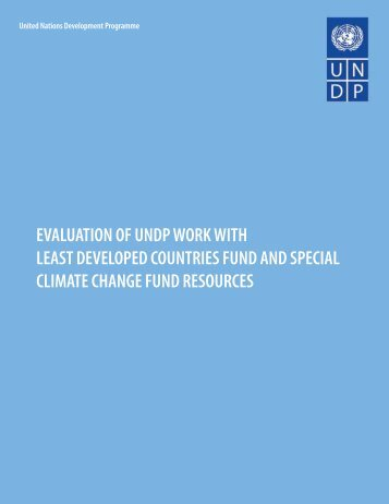 evaluation of undp work with least developed countries fund
