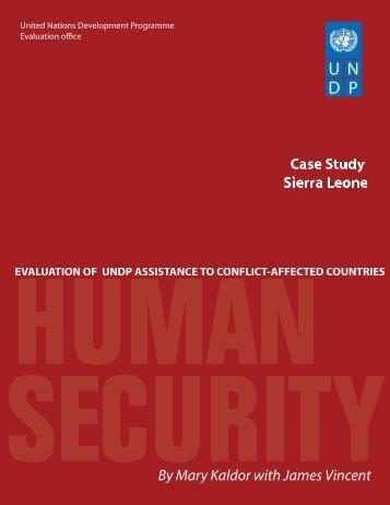 Sierra Leone - United Nations Development Programme