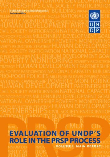 Evaluation of UNDP's Role in PRSP Process - United Nations ...