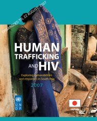 Human Trafficking and HIV - United Nations Development Programme