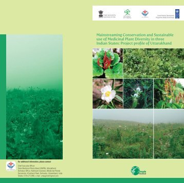 Mainstreaming Conservation and Sustainable use of Medicinal ...