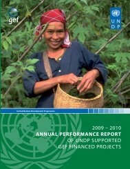 Annual Performance Report of UNDP supported GEF financed ...