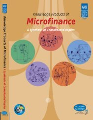 Knowledge Products of Microfinance - United Nations Development ...