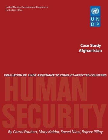 Afghanistan - United Nations Development Programme