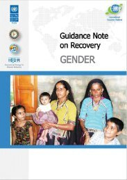 Gender - United Nations Development Programme