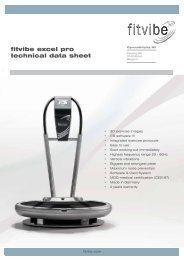 fitvibe excel pro technical data sheet