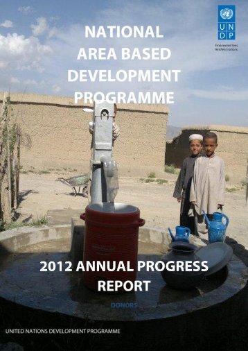 Anual Progress Report 2012 - UNDP Afghanistan